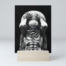 Hercules holding the whole world Mini Art Print