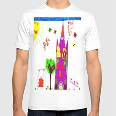 Playground Castle MEDIUM Mens Fitted Tee White
