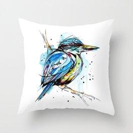 Bold Kingfisher  Throw Pillow
