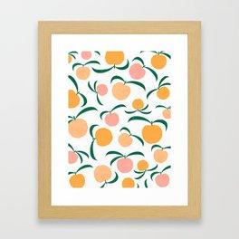 Peach Me Framed Art Print