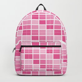 Four Shades of Pink Squares Backpack