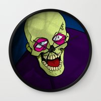 zombie Wall Clocks featuring Zombie by Francisco Martinez
