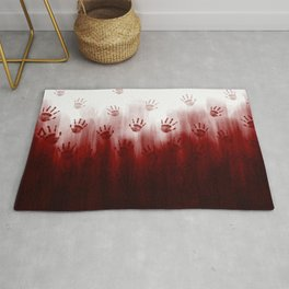 Terror Blood Hands Rug