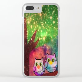 owl-143 Clear iPhone Case