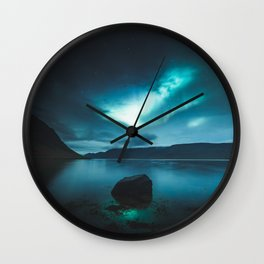 Icelandic Blue Wall Clock