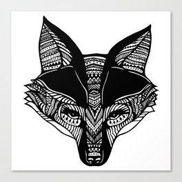 Little Black Fox Canvas Print