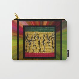 lively up reggae dancers (square) Carry-All Pouch