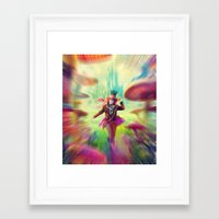 mad hatter Framed Art Prints featuring Mad Hatter by dreamshade