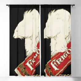 Polar Bear vintage chocolate bar ad Blackout Curtain