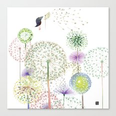 DANDELION FUN Canvas Print