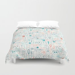 Men hobbies Duvet Cover
