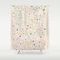 zodiac Shower Curtains featuring zodiac by Kristina Nuetzmann