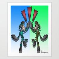 Super Snake Bros Art Print