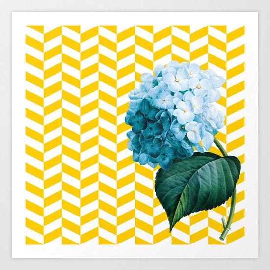 Hydrangea flag Art Print
