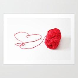 I love yarn Art Print