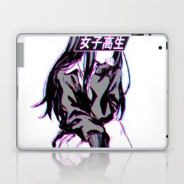 SCHOOLGIRL - Sad Japanese Anime Aesthetic Laptop & iPad Skin