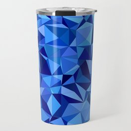 Blue tile mosaic Travel Mug
