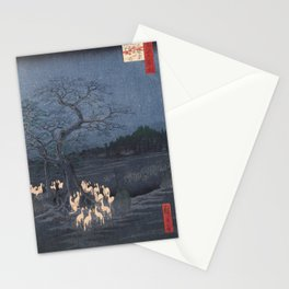 New Year's Eve Foxfires at the Changing Tree, Hiroshige Stationery Cards