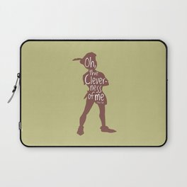 Oh the Cleverness of Me - Peter Pan Inspired Art Print Laptop Sleeve