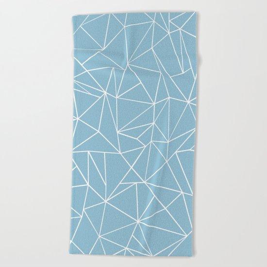 Abstraction Outline Sky Blue Beach Towel