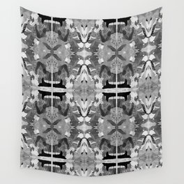 absence black and white Wall Tapestry