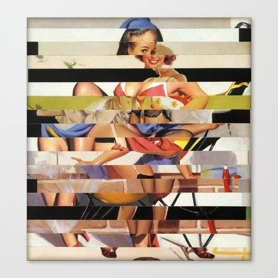 Glitch Pin-Up Redux: Gwen Canvas Print