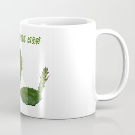 Cactus man with flower and text above Coffee Mug