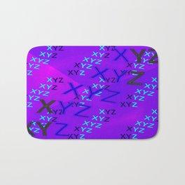 XYZ - pattern, long Bath Mat