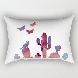 Cacti and animals Rectangular Pillow