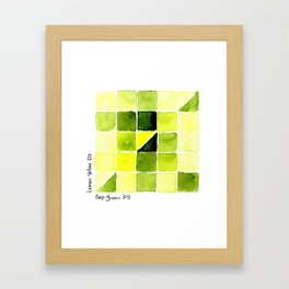 Color Chart - Lemon Yellow (DS) and Sap Green (DS) Framed Art Print