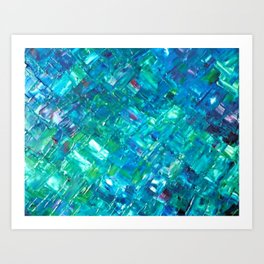 Psychedelic Blue Art Print