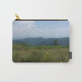 Meadow and mountains in the distance Carry-All Pouch