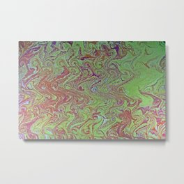 Thermal Curls Water Marbling Metal Print