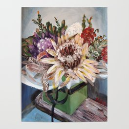 INSIDE THE GIFT BOX - Australian native dried flowers still life by HSIN LIN / H.Lin the Artist Poster
