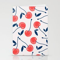 cherry Stationery Cards featuring Cherry  by Babiole Design
