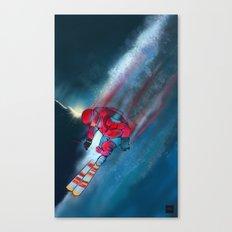 Extreme skiing illustration Canvas Print