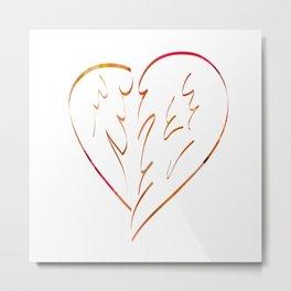 Winged heart Metal Print