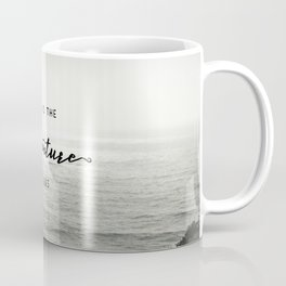 And So The Adventure Begins - Ocean Emotion Black and White Coffee Mug