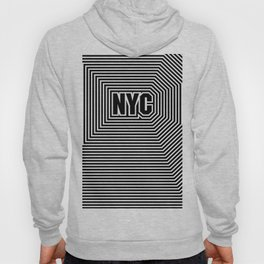 New York echo / Lined frame expanding from NYC text Hoody