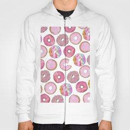 Cute Pink Sprinkle Confetti Watercolor Donuts Hoody