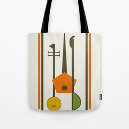 Mid-Century Modern Art Musical Strings Tote Bag