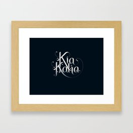 Kia Kaha Framed Art Print