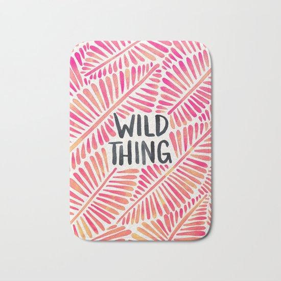 Wild Thing – Pink Ombré & Black Palette Bath Mat