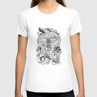 berserk T-shirts featuring THE HOUND - WHITE by SOMNIVAGRIOUS