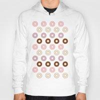 doughnut Hoodies featuring Doughnut Polka by Karolis Butenas