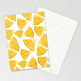 Pineapple hand drawn seamless pattern.  Stationery Cards