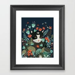 Curious Cat Framed Art Print