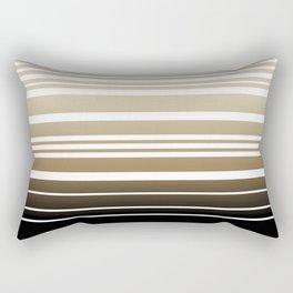 Bay Ombre Stripe: Neutral Rectangular Pillow