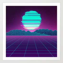 The Future World Synthwave  Art Print