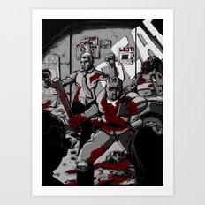Zombie Rush (Gray Tone Version) Art Print